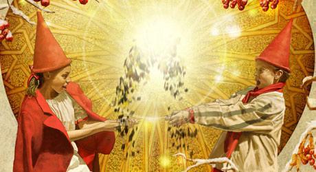 Plakat til Eventyrteatrets musical Julehjertet