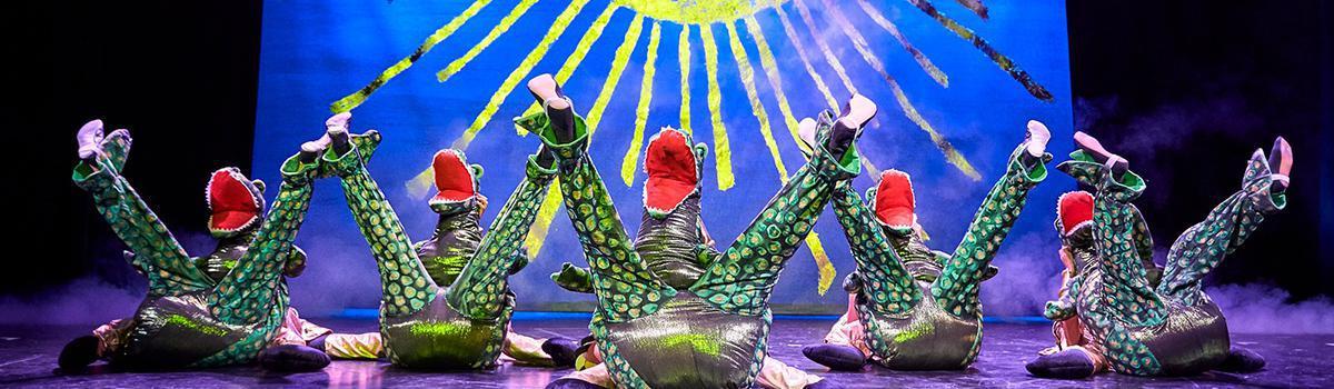 Krokodiller fra Nilens Stjerne reklamere for DVD