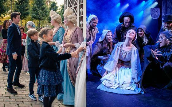Kronprinseparrets børn er hyppige gæster til Eventyrteatrets musicals i Tivolis Glassal - fotos: Hergaard Fotografi og Ole Mortensen