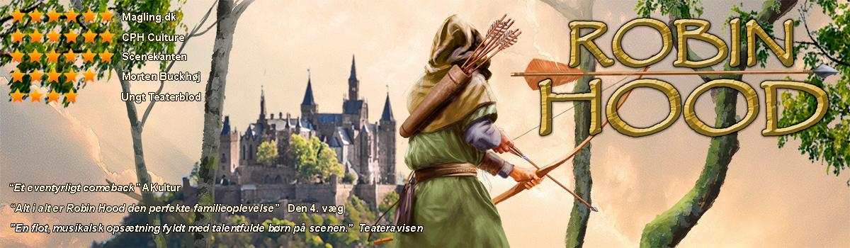 Eventyrteatrets familiemusical Robin Hood - Plakat: Per O.