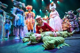 Fra Eventyrteatrets familiemusical Skovens Dronning, oktober 2019, Glassalen i Tivoli - Eventyrteatret i Glassalen - Prinsesse Margrete og Tutivilus - teater, børneteater, musical