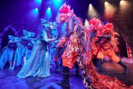 Fra Eventyrteatrets familiemusical Skovens Dronning, oktober 2019, Glassalen i Tivoli - Nymfer og salamandere - teater, børneteater, musical