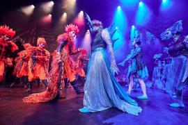 Fra Eventyrteatrets familiemusical Skovens Dronning, oktober 2019, Glassalen i Tivoli - Salamandere og nymfer - teater, børneteater, musical