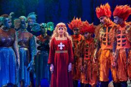 Fra Eventyrteatrets familiemusical Skovens Dronning, oktober 2019, Glassalen i Tivoli - Prinsesse Margrete, nymfer og salamandere - teater, børneteater, musical