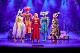 Fra Eventyrteatrets familiemusical Skovens Dronning, oktober 2019, Glassalen i Tivoli - Prinsesse Margrete og de fire elementarånder - teater, børneteater, musical