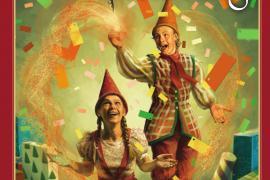 Plakat fra Julemandens Lærling musical teater i Glasalen Tivoli 2013