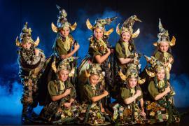 Fra Eventyrteatrets familiemusical Skovens Dronning, oktober 2019, Glassalen i Tivoli - alle gnomer - teater, børneteater, musical