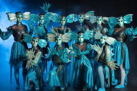 Fra Eventyrteatrets familiemusical Skovens Dronning, oktober 2019, Glassalen i Tivoli - Eventyrteatret i Glassalen - Alle nymfer - teater, børneteater, musical