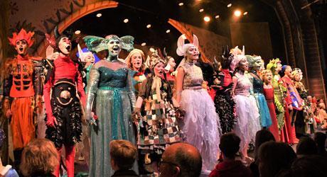 Fremkaldelse ved premieren på Eventyrteatrets musical Skovens Dronning