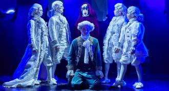 Fotos fra Eventyrteatrets musical Den Magiske Maske i Glassalen