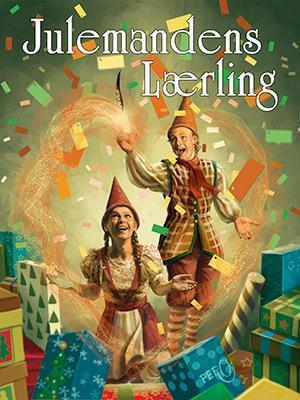 Plakat fra Julemandens Lærling musical teaterplakat