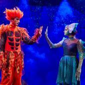 Fra Eventyrteatrets familiemusical Skovens Dronning, oktober 2019, Glassalen i Tivoli - Eventyrteatret i Glassalen - Ignis og Stella - teater, børneteater, musical
