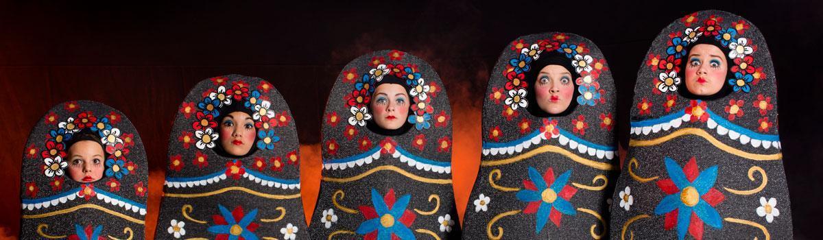 "Babushkakostumer til Eventyrteatrets musical ""Fugl Fønix"" 2015 - foto: Hergaard Fotografi"