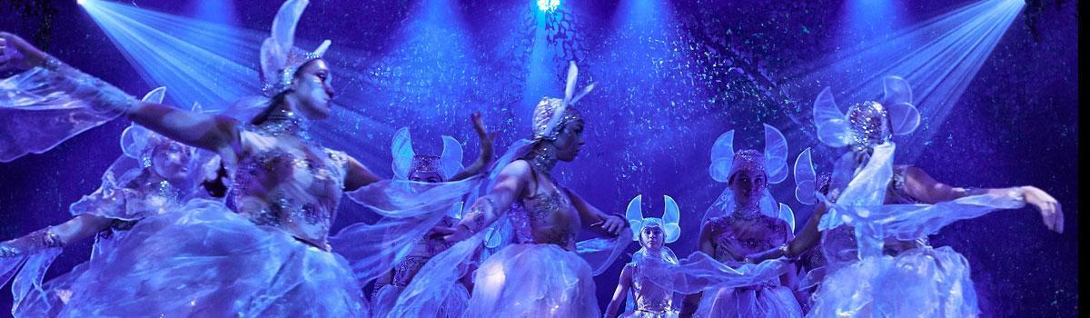 "Fra Eventyrteatrets musical ""Skovens Dronning"" 2019 i Tivolis Glassal - foto: Ole Mortensen"