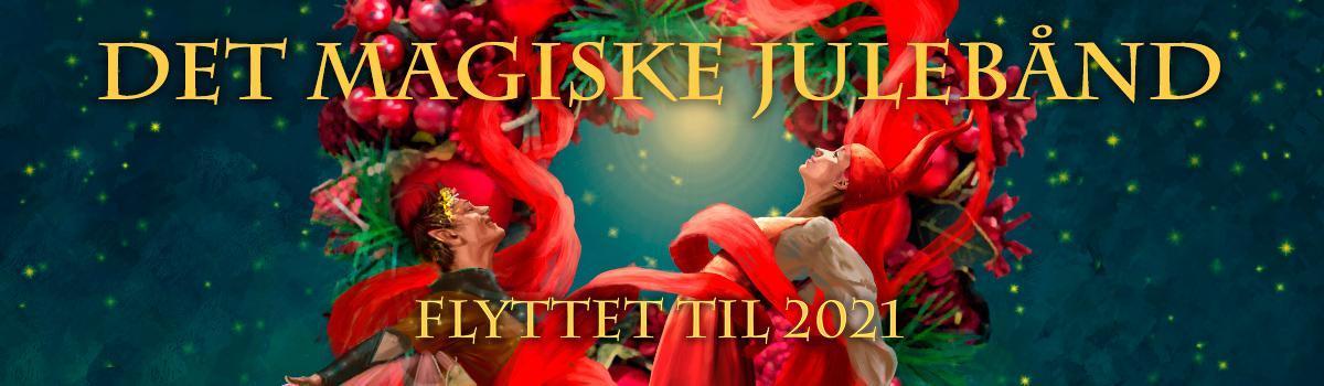 """Eventyrteatrets julemusical """"Det magiske julebånd"""" aflyses pga. Covid 19 i 2020 og flyttes til 2021"""