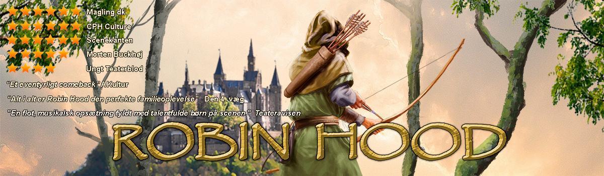Plakat: Per O - Eventyrteatrets familiemusical Robin Hood